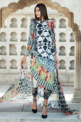 Mausummery summer stero rose lawn print dresses 2017