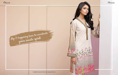 Orient digital summer lawn kurtis patterns for ladies