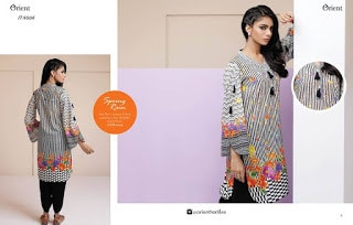Orient summer lawn kurti styles with stylish designs