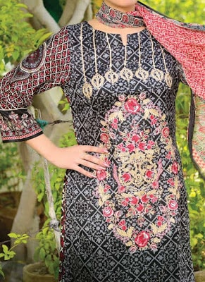Reshma embroidered lawn dresses for women 2017 vol-1