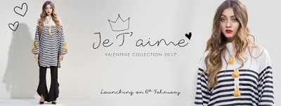 Sapphire Je t'aime Kurta Valentines Day Collection 2018