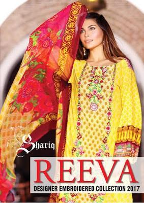 Shariq Reeva designer embroidered Collection 2018 for girls