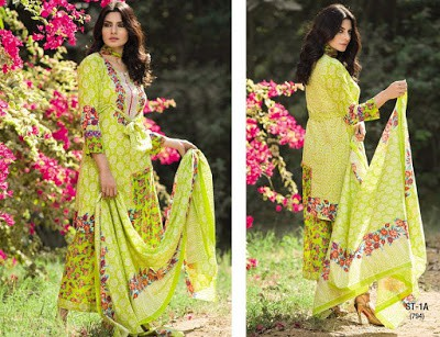 Shariq Textiles summer dresses 2017 for women