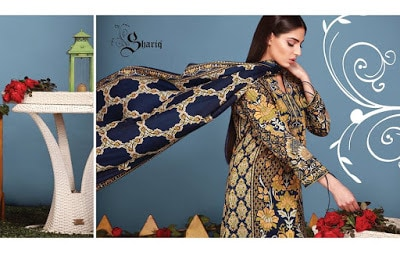 Shariq textiles Riwaj lawn print designs 2017-18 for girls