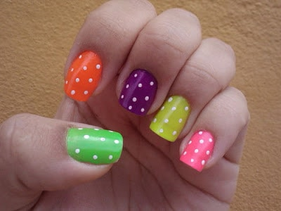 Simple and easy nail art designs for short nails