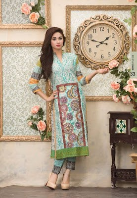 Summer collection lawn dresses by Moon Textiles