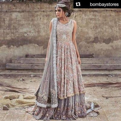 Umsha by uzma babar latest bridal wear dresses designs 2017
