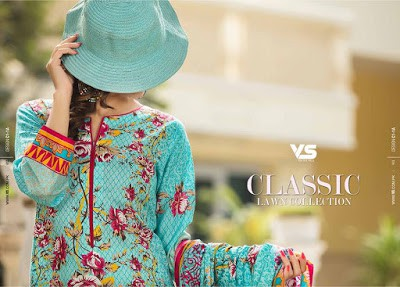 VS Textiles classic lawn collection 2017 for girls
