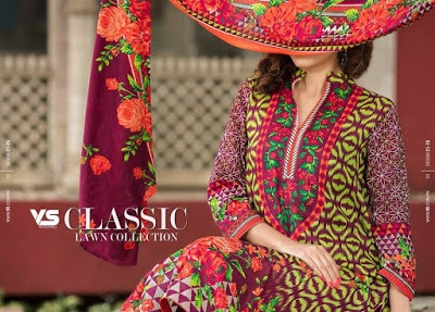 VS summer lawn dresses for women 2017 vol-1