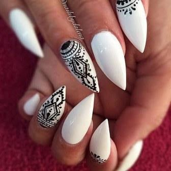 Beautiful-stiletto-nail-art-with-bow-designs