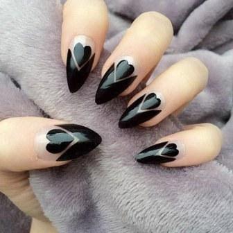 Black-hearts-stiletto-nails