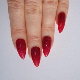 Bloody-red-stiletto-nail-design