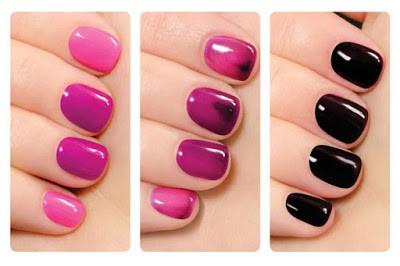 Classy change color nail polish