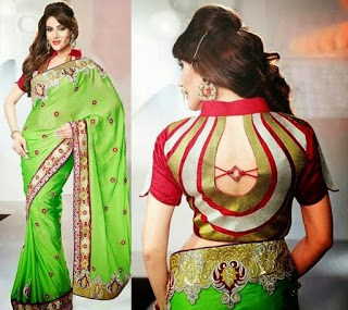 Fancy-saree-blouse-back-neck-designs-pattern-for-women-1