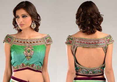 Fancy-saree-blouse-back-neck-designs-pattern-for-women-5