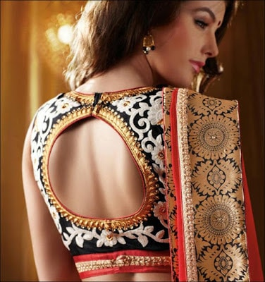 Fancy-saree-blouse-back-neck-designs-pattern-for-women-6