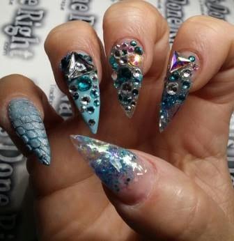 Floral-print-stilettos-nail-designs