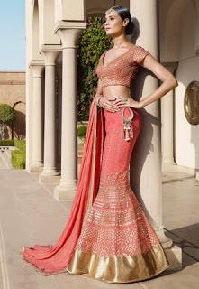 Perfect-Indian-mermaid-or-fish-cut-lehenga-designs-choli-fashion-4