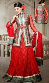 Perfect-Indian-mermaid-or-fish-cut-lehenga-designs-choli-fashion-6