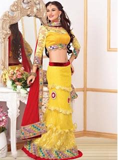 Perfect-Indian-mermaid-or-fish-cut-lehenga-designs-choli-fashion-7