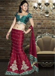 Perfect-Indian-mermaid-or-fish-cut-lehenga-designs-choli-fashion-9
