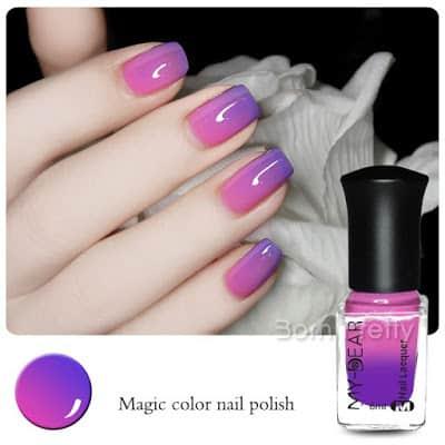 Thermal nail polish that change color