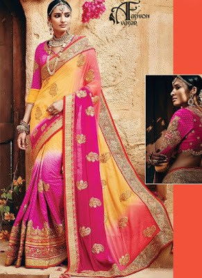 Traditional-indian-banarasi-silk-saree-new-styles-for-girls-11