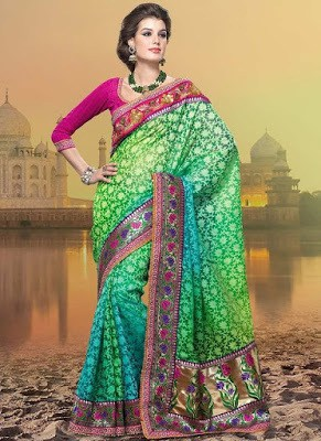 Traditional-indian-banarasi-silk-saree-new-styles-for-girls-12