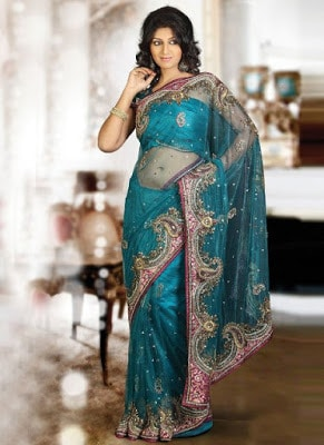 Traditional-indian-banarasi-silk-saree-new-styles-for-girls-6