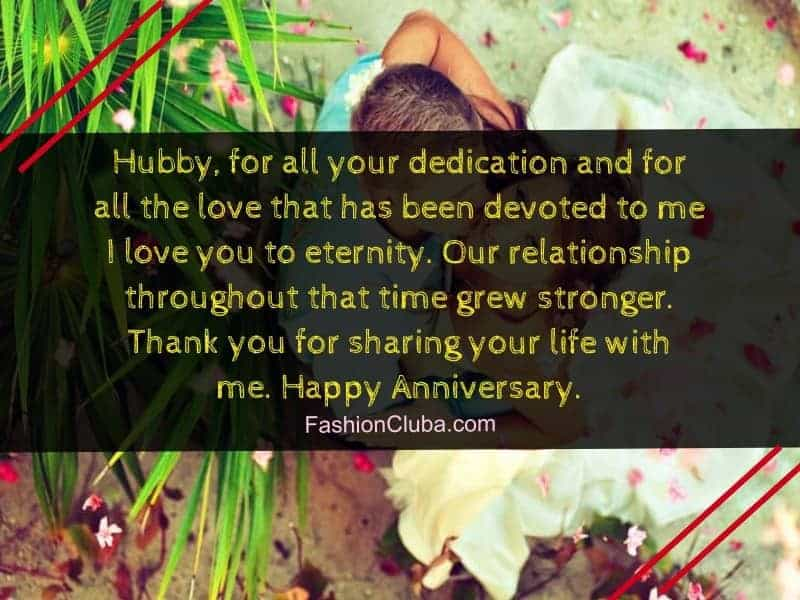 sweet marriage anniversary messages for husband