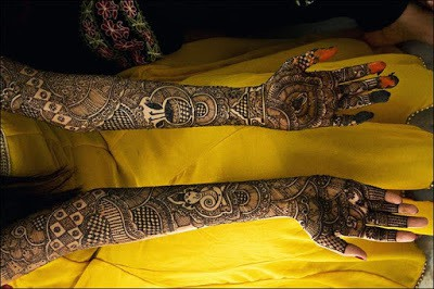 bridal mehndi designs for hands in full hand