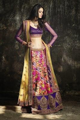 indian-women-party-ethnic-wear-lehenga-saree-designs