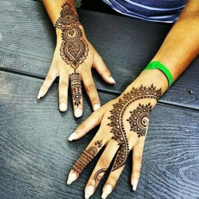 some beautiful designs of mehndi
