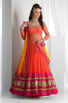 latest designer bridal lehenga choli