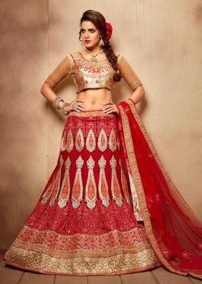 latest designs of bridal lehenga cholis