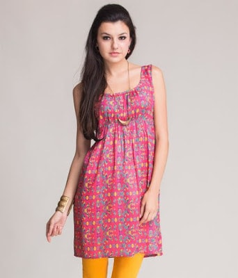 Latest-indian-summer-kurti-designs-with-lace-for-women-2