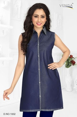 Latest-indian-summer-kurti-designs-with-lace-for-women-7