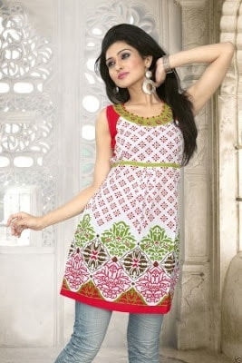 Latest-indian-summer-kurti-designs-with-lace-for-women-8