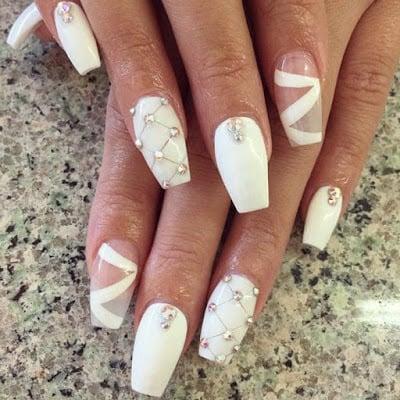 Nail-wedding-nails-long-white-and-transparent-crystals-shapes-geometric