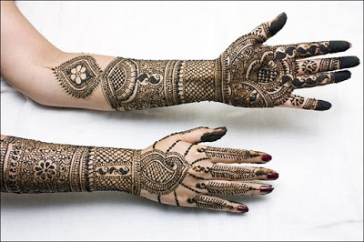 simple and easy mehndi designs for hands step by step