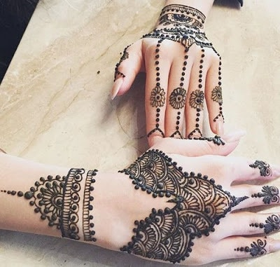 simple mehndi designs for hands for beginners