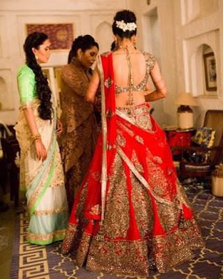 Traditional-indian-bridal-half-saree-designs-for-weddings-6