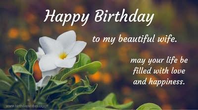 happy birthday to my wife card