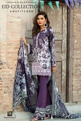 2 Piece Embroidered Digital Printed Lawn