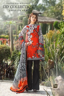 2 Piece Embroidered Printed Lawn