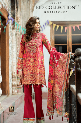 3 Piece Embroidered Digital Printed Lawn