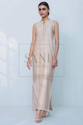 Cotton-net-sequins-embroidered-long-shirt