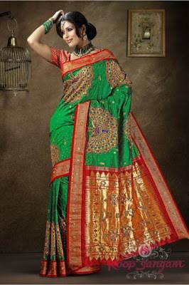India-paithani-saree-designs-maharashtrian-blouse-patterns-11