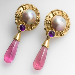 Pale Pinkish Stud Earrings Jewelry