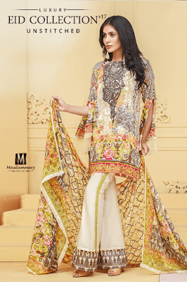Shimmer Shock 3 Piece Embroidered Printed Lawn